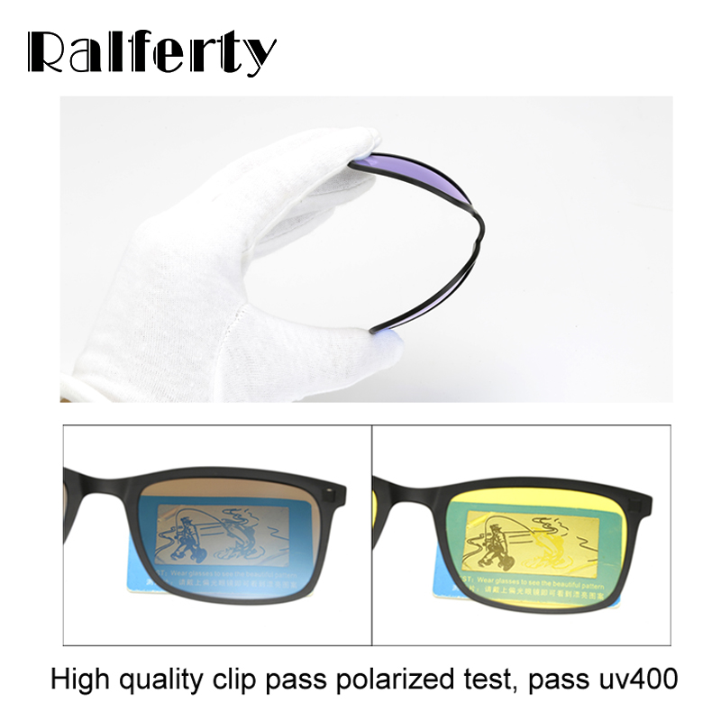 6f2be4ba0a Ralferty Polarized Sunglasses Men Women 5 In 1 Magnetic Clip On ...