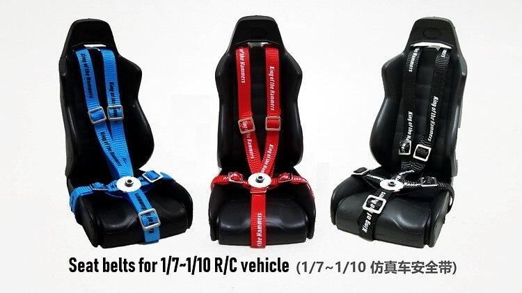 Simulé conducteur ceinture de sécurité pour 1/10 RC chenille voiture axiale Wraith TRX4 D90 D110 RC court-Course camion monstre camion 2 pièces
