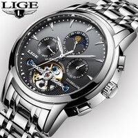 LIGE New Men Waterproof Sports Watch Top Brand Luxury Weight 150 g White Digital Hours Shock Resist Relogio Masculino Male clock
