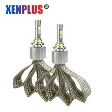 Xenplus H11 XHP70 Chip LED Headlight Bulb h4 H7 H8 H9 D2S H13 9004 9005 9006 9007 Super Bright most powerful 55W with canbus(China)