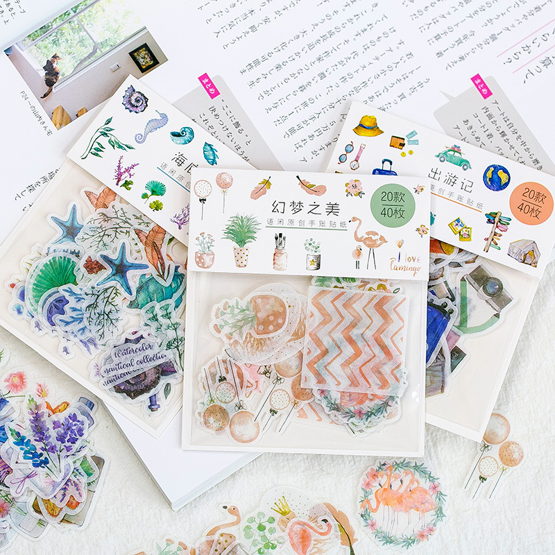 40pcs/Bag Fantastic Creative Sticker Child Diy Toy Calendar Album Photo Deco Diary Sticker Scrapbooking Planner Sticker Material40pcs/Bag Fantastic Creative Sticker Child Diy Toy Calendar Album Photo Deco Diary Sticker Scrapbooking Planner Sticker Material