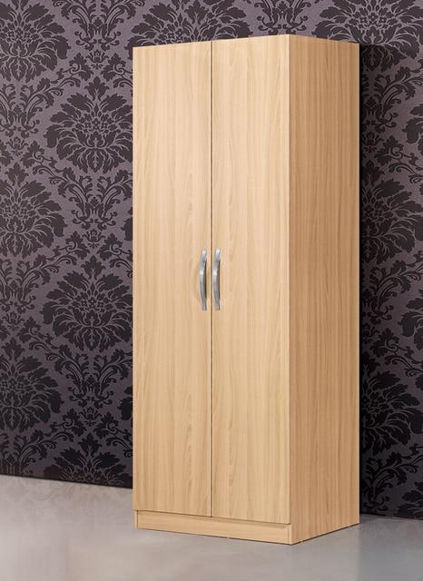 Bedroom Furniture Simple Wardrobe Large Wooden Closet Cloth Cabinet Capacity Wardrobes