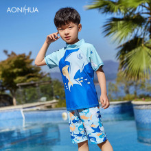 AONIHUA New Boy Kids Swimwear Cute Children Cartoon Swimsuit Swimming Clothing Toddler Beachwear Rash Guards 1040 format kids boy 16