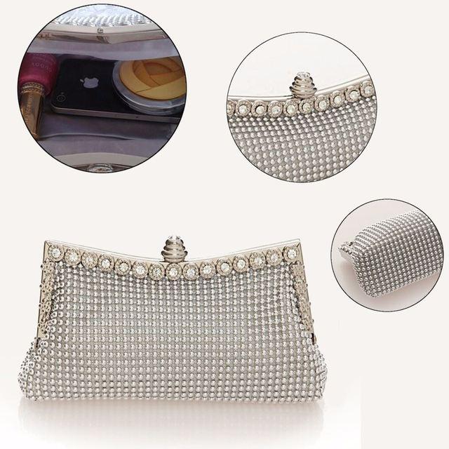 AEQUEEN Women Evening Bag Day Clutches Austrian Diamond Aluminium Shinestone Banquet Wedding Party Bag Beaded Evening Clutch Bag