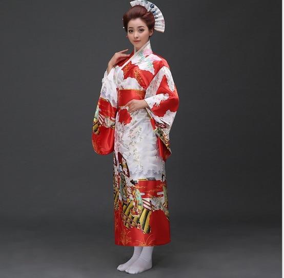 Mode 3 färg Japansk Kimono Vintage Yukata Japansk Haori Kimono Obi - Nationella kläder - Foto 5