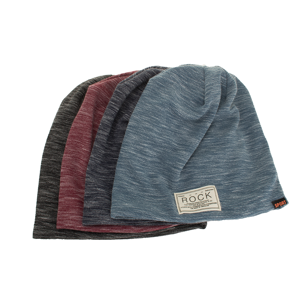 Winter Autumn Beanies Hat Unisex ROCK Label Warm Soft Knitting Cap Hats  AKIZON 3c04c4e9b47