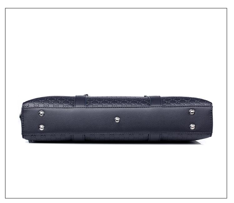 Double Layers Men's Microfiber Synthetic Leather Business Briefcase Casual Shoulder Bag Messenger Bag Laptop Handbag Travel Bag