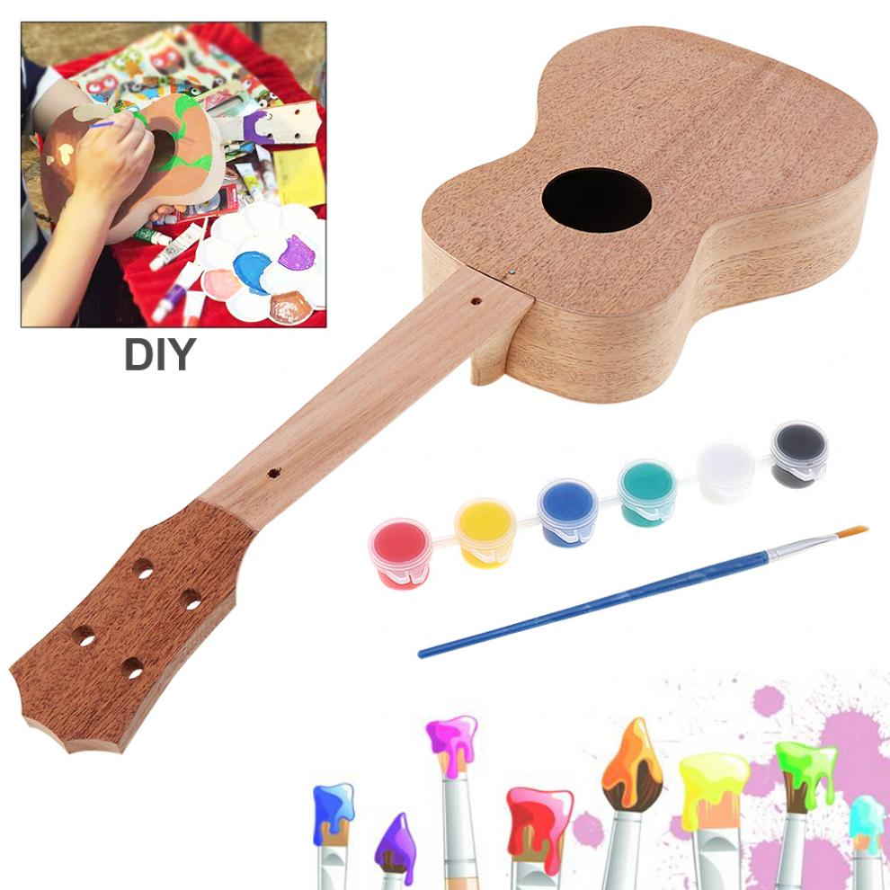 23 Inch Mahogany Ukulele DIY Kit Concert Hawaii Guitar with Rosewood Fingerboard and All Closed Machine Head in Ukulele from Sports Entertainment