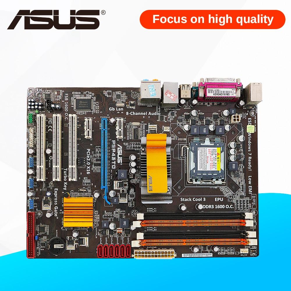 Asus P5P43TD Desktop Motherboard P43 Socket LGA 775 DDR3 16G SATA3 USB2.0 ATX On Sale msi p43 neo f original used desktop motherboard p43 socket lga 775 ddr2 16g sata2 usb2 0 atx