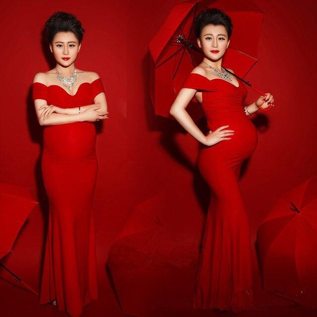 Vestidos de noche color rojo para embarazadas