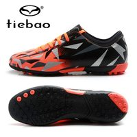 TIEBAO 2018 New Football Shoes Popular Cutting Style TF Turf Soles Cleats Boots Sneakers Outdoor Soccer Shoes EU Size 38 45
