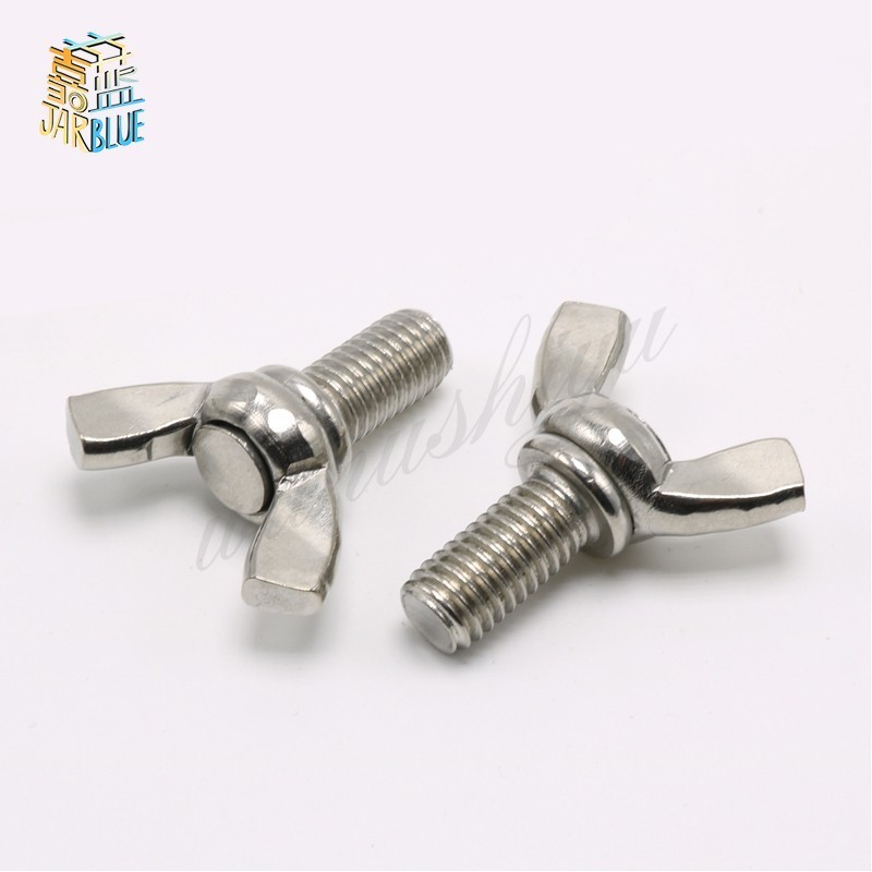 M8*12/16/20/25/30-<font><b>80mm</b></font> DIN316 304 Stainless Steel Butterfly Ingot Claw Hand <font><b>Screw</b></font> Bolt Machine image