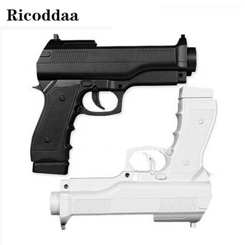 все цены на Hot Sale Zapper Gun For Nintendo Wii Pistol Shooting Gun For Wii Remote Controller Video Game Gun Bracket Holder For Wii Game онлайн