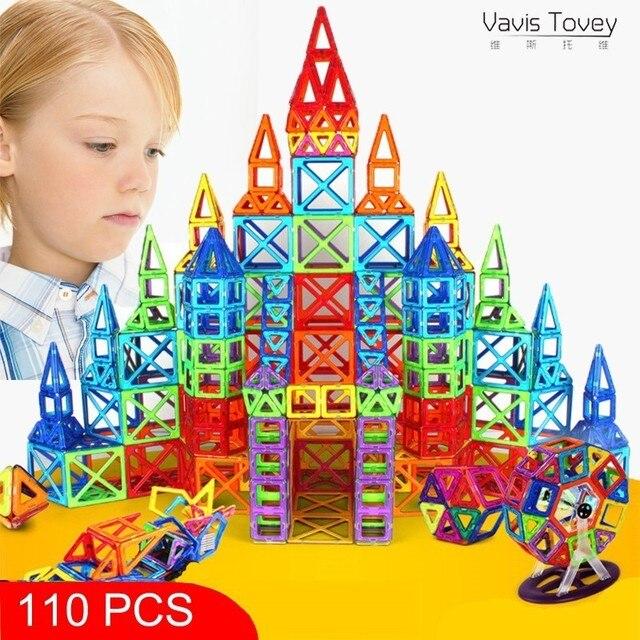 Vavis Tovey New Mini Designer Construction Set Model & Building Toy Plastic Magnetic Blocks Educational Toys Kids Gift