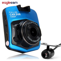 2016 New Novatek 2 Lens Car DVR Dual Camera GT300 1080P Video Recorder With Rear View