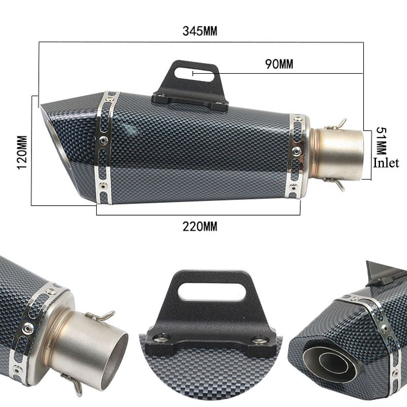 HOT SALE] 51mm inlet Universal motorcycle yoshimura exhaust muffler