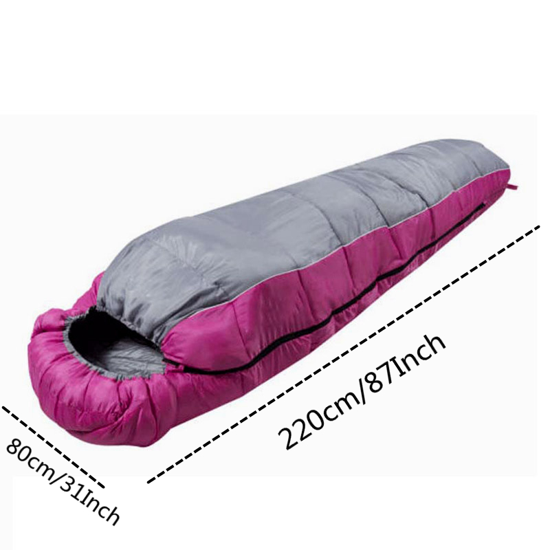 Image 2 - VILEAD 3 Colors Mummy type Sleeping Bag Portable Ultralight Waterproof Hiking Camping Stuff Adult Sleep Quilt Bed Lightweight-in Sleeping Bags from Sports & Entertainment