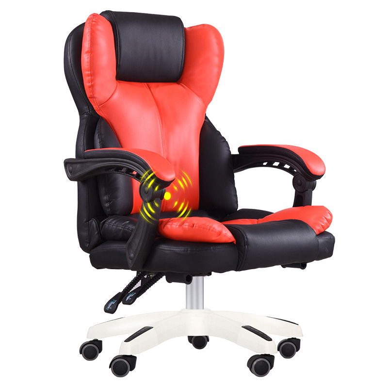 Computer Game Chair Office Boss Nap Chair For 150kg SGS Ergonomic Handrail PU Chair With Waist Massage Y Shape E-sports Chair