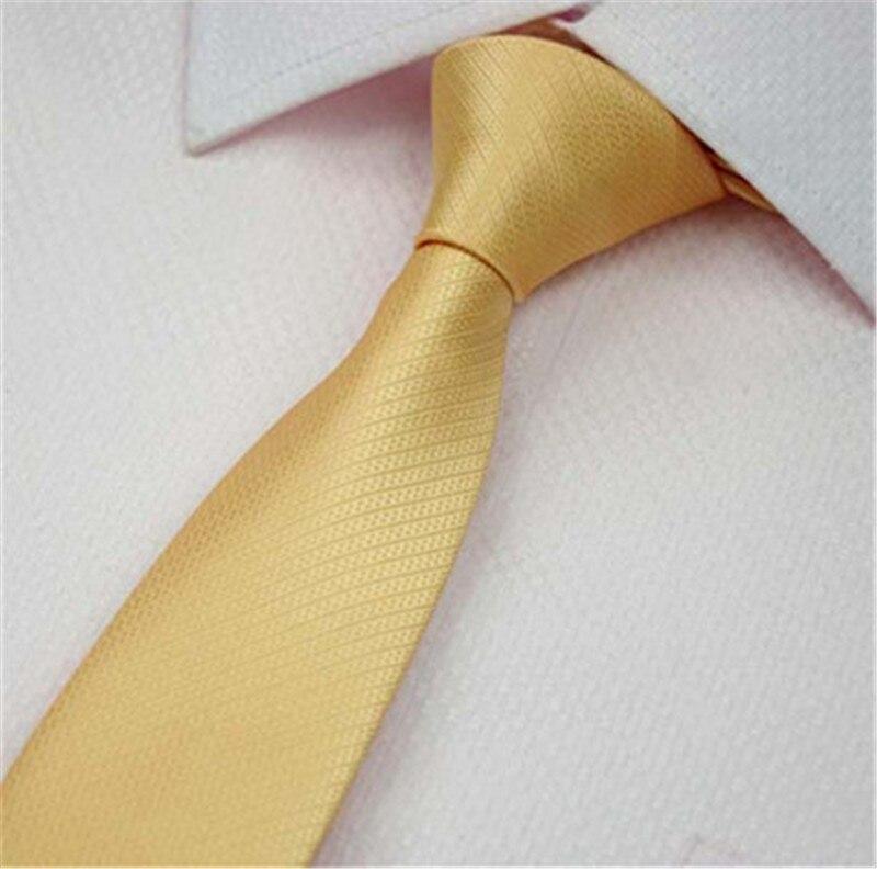 SCST Brand New Cravate Striped Solid Yellow Gold Silk Ties For Men Wedding Necktie 6cm Skinny Tie Slim Neckties Gravata CR037
