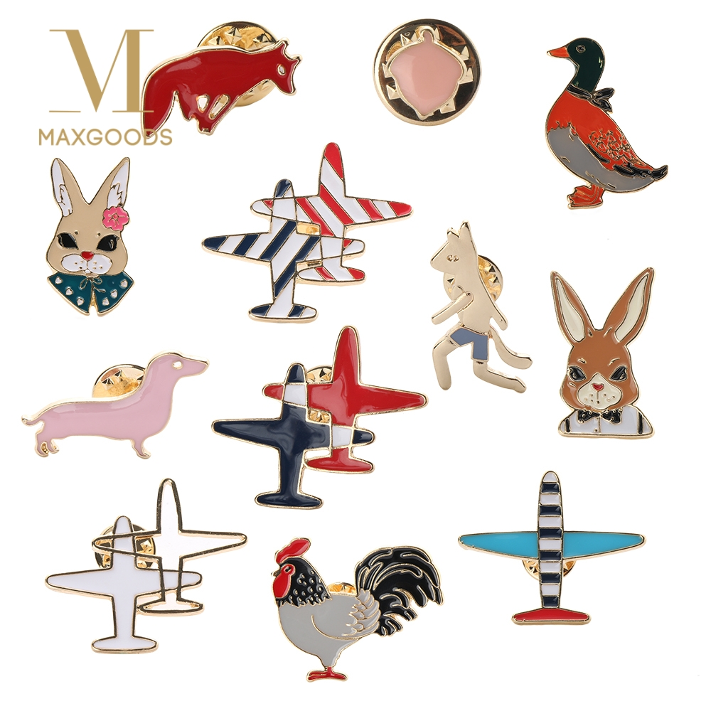 Fast Deliver 1 Pcs Creative Planet Rabbit Pilot Metal Brooch Button Pins Denim Jacket Jewelry Pin Decoration Badge For Clothes Lapel Pins Apparel Sewing & Fabric Home & Garden
