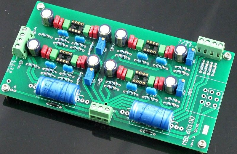 ZEROZONE Geassembleerd V1.3 Hifi voorversterker board basis op MBL6010 voorversterker (geen opamp) L5 48-in Versterker van Consumentenelektronica op  Groep 1