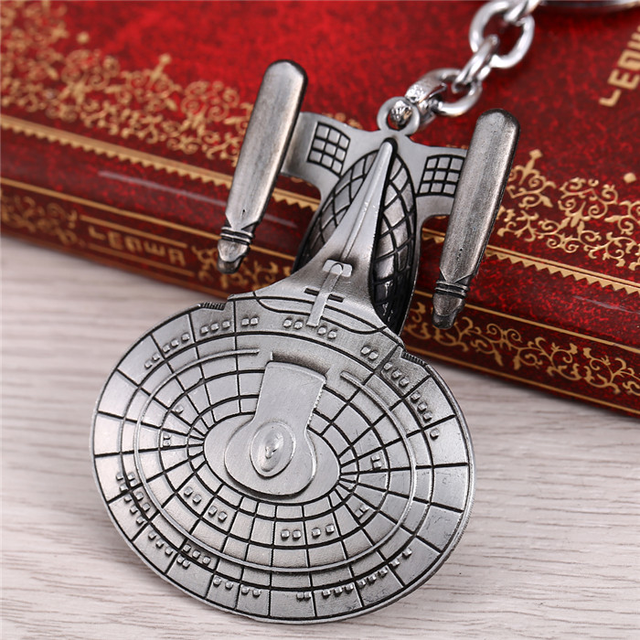 H&F Hot movie Star Wars Trek Spaceship USS Vengeance Replica Warships Model key holder for car Chaveiro Llavevos image