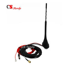 Car Antenna for DAB DAB AM/FM Radio Built in Amplifier SMA Male Connector Universal Roof Mount Rod Antenna 5m Cable