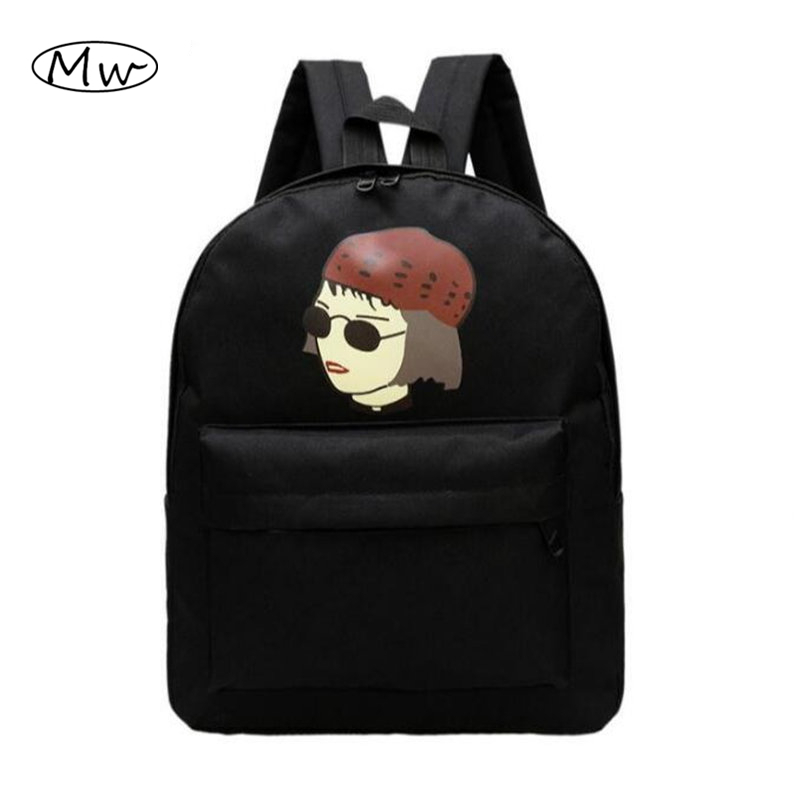 New Women Canvas Backpack School Bags For Boys High School Students Shoulder Bag Casual Travel Bag Men Bag Rucksack AB88 new 3d skull backpack shoulder bags for men printing backpack men punk rock school backpack for men casual school bags for boys