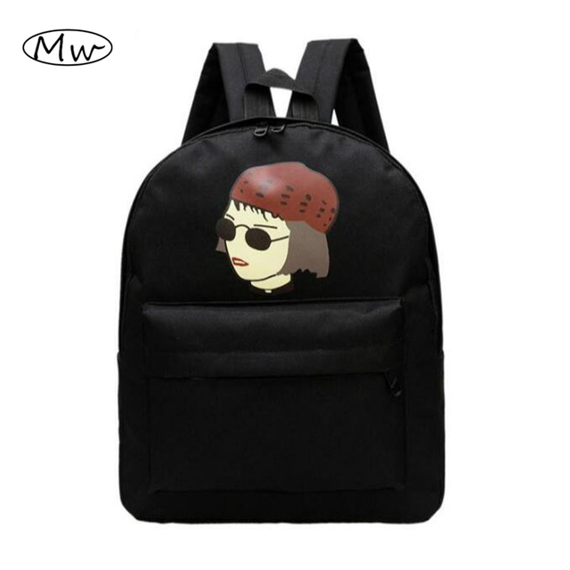 Novas Mulheres Mochila Canvas Escola Bags Para Meninos Estudantes do Ensino médio Bolsa de Ombro Ocasional Saco De Viagem Dos Homens Saco Mochila AB88