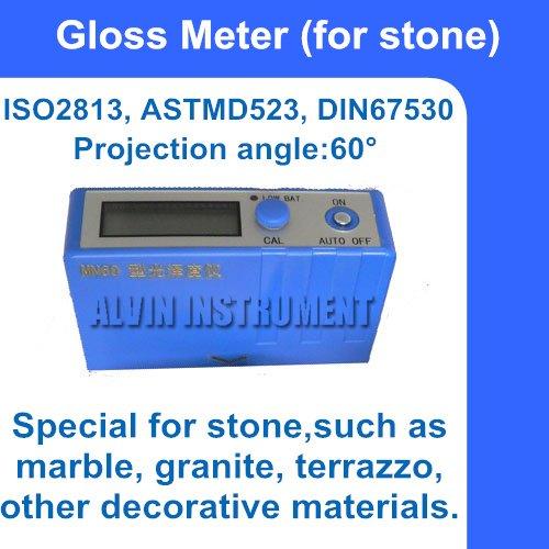 Каменный измеритель блеска, глоссметр 0~ 199gs угол проекции: 60 градусов Разрешение: 1 точность:+-2GS