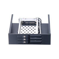 3*2.5 inch aluminum SATA internal hdd mobile rack with lock for 5.25in CD ROM pc bay with hot swap with trayless