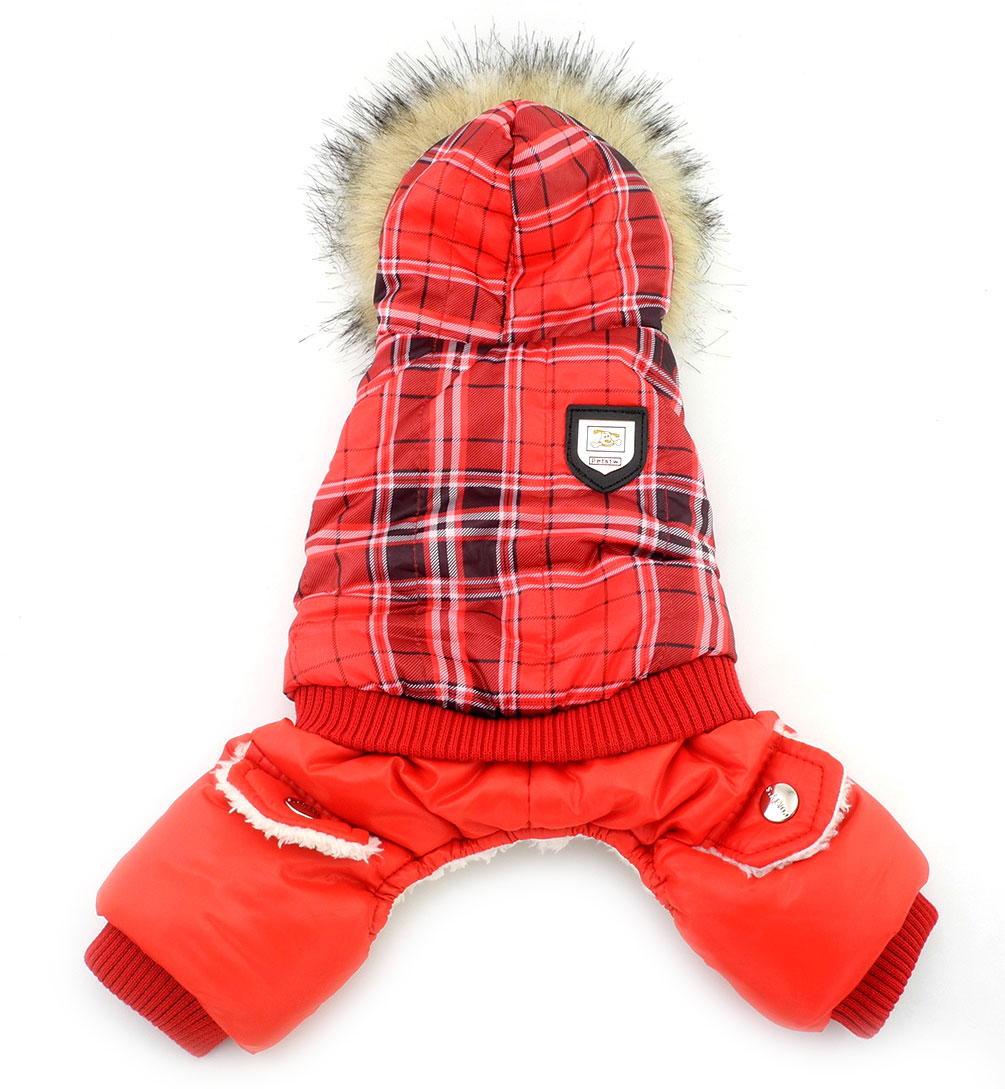 Small Dog Clothes For Girls Boys European Style Plaid Dog -4096