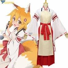 Costume de Cosplay dessin animé Sewayaki Kitsune no senko-san, sur mesure, le renard utile Senko san