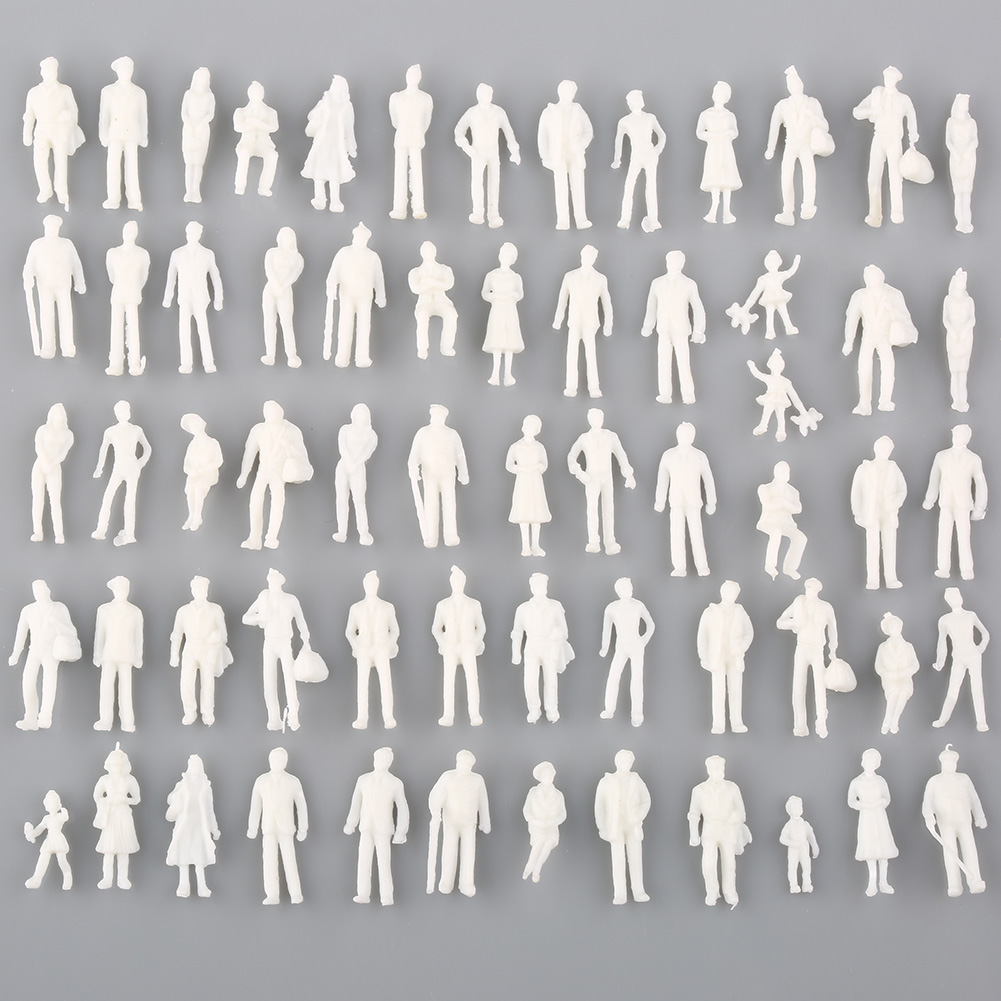 Whoelsale 100pcs Model Train People Figure Passengers 1:100 HO Scale Models Sand Table Toys
