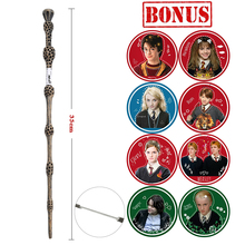 Metal/Iron Core Series Magic Wand  Dumbledore Old Wand Varita Hp with Extra Stickers