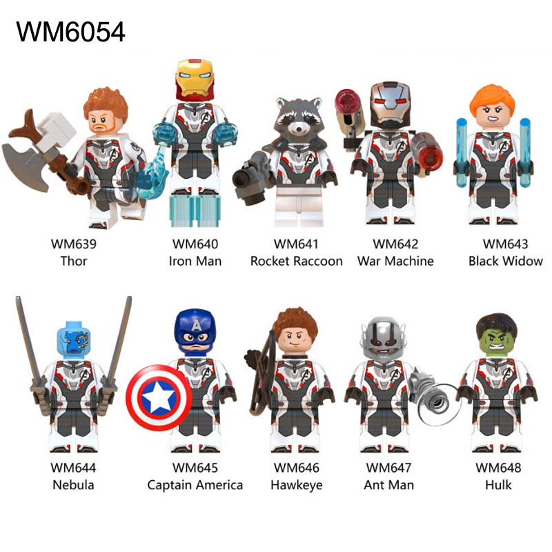 Toys & Hobbies New Compatible Legoinglys Super Heroes Avengers 4 Endgame Nebuia Outrider Chitauri Thor Hawkeye Figures Building Blocks Toys Model Building