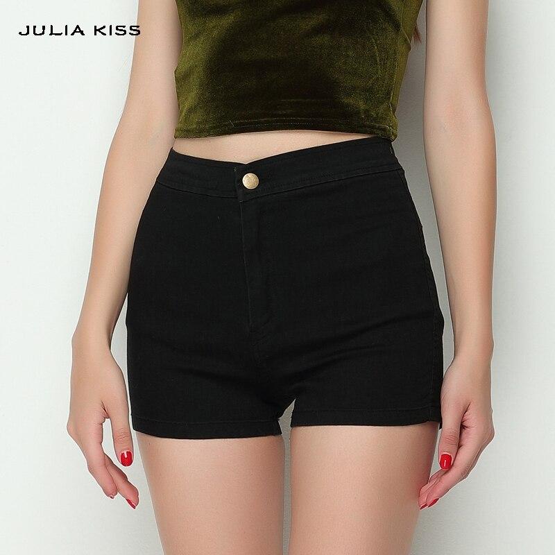 Women Vintage Apparel Slim Bottom Tight-fitting High Waist   Shorts   Sexy Denim   Shorts
