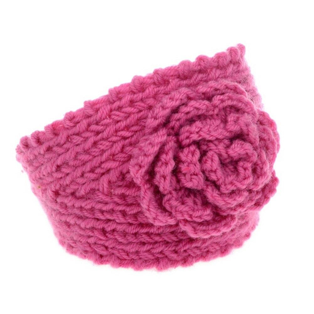 Flower Hairband Women Knitted Headwrap Knitting Crochet Headband Ear Warm for Girls Women Headwear hair accessories 8 Colors