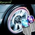 Nueva Llegada de Accesorios de Auto Suministros de Bicicleta de Neón Azul Estroboscópica LED de Válvula del Neumático Caps M25