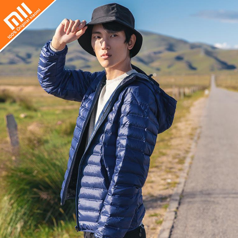Original xiaomi 90 points light and seamless piece goose down jacket men 90% goose down comfort winter HOT ааша хербалс гель для душа сандал 200мл