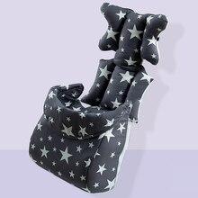 Baby Stroller Seat Cushion with Footmuff Kids Pushchair Car Cart Highchair Seat Mattress Baby Stroller Cushion Pad Accessories