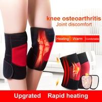 Tourmaline Knee Pads Heating Massage Knee Support Brace Knee Protector Breathable Bandage Knee Brace Professional Body Massage>