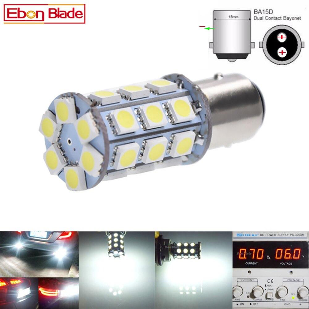 2x S25 1156 BA15S P21W 5050 27SMD Turn Signal Reverse Backup LED Bulb Warm White