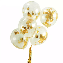6/12/20pcs 12 Gold Star Confetti Balloons BabyShower Girl or Boy Happy Birthday Balloon Globos Cumpleanos Infantiles Party