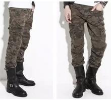 2015 Camouflage jeans automobile race off-road pants drop resistance motorcycle jeans plus size