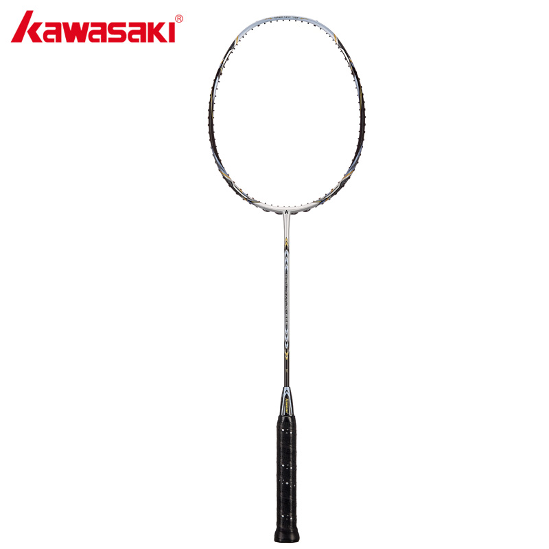 Kawasaki Professional Super Tension 666 Badminton Racket 3U Offensive Type High Graphite Badminton Racquet For Traning kawasaki brand spider 6900 badminton rackets high tech wind break frame s5 graphite fiber professional badminton racquets