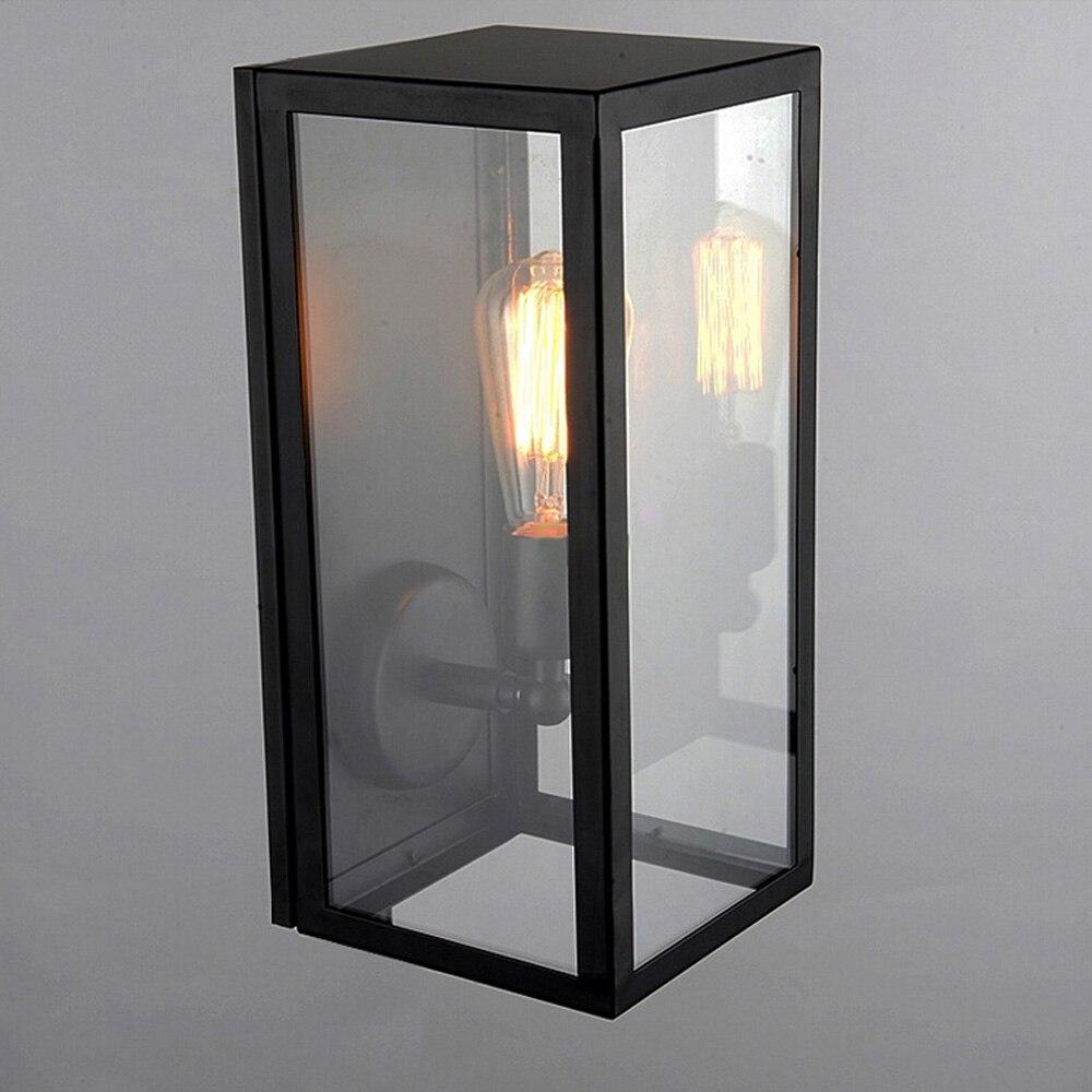Черный Крытый Настенные светильники Кухня лобби Ванная комната антикварные настенные бра Винтаж Промышленное освещение Лофт кованого железа LED Бра - 4