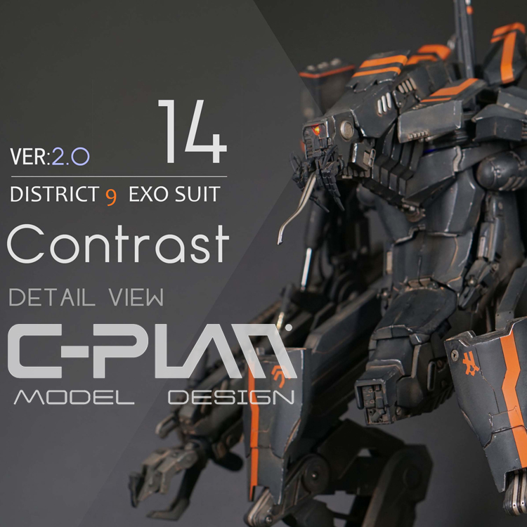 1/10 Prawn EXO SUIT Exoskeleton Armor Model GK Movable np gc b002 1 10 exo armored suit private military contractor