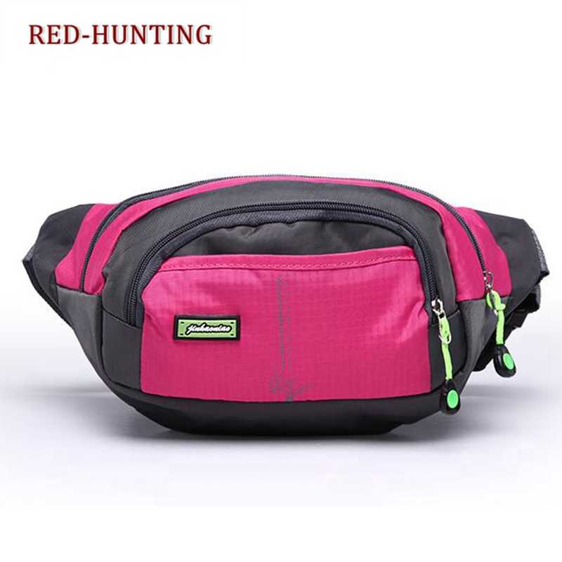 320e1c1fdb2c Lightweight Waist Bag with 4 Zipper Pockets Fanny Pack/Bum Bag with  Adjustable Belt Strap for Runner Cyclist Outdoor Sports