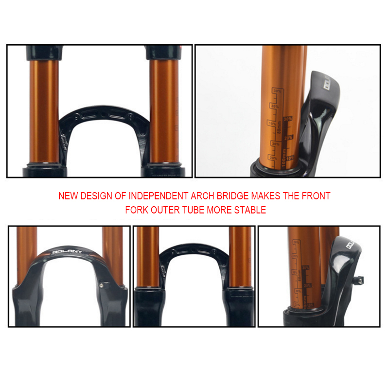 Magnesium Alloy MTB Bike Fork Supension Air 26 27 5 29er Inch Mountain Bike Part 32 RL100mm Fork For Bicycle Accessories in Bicycle Fork from Sports Entertainment